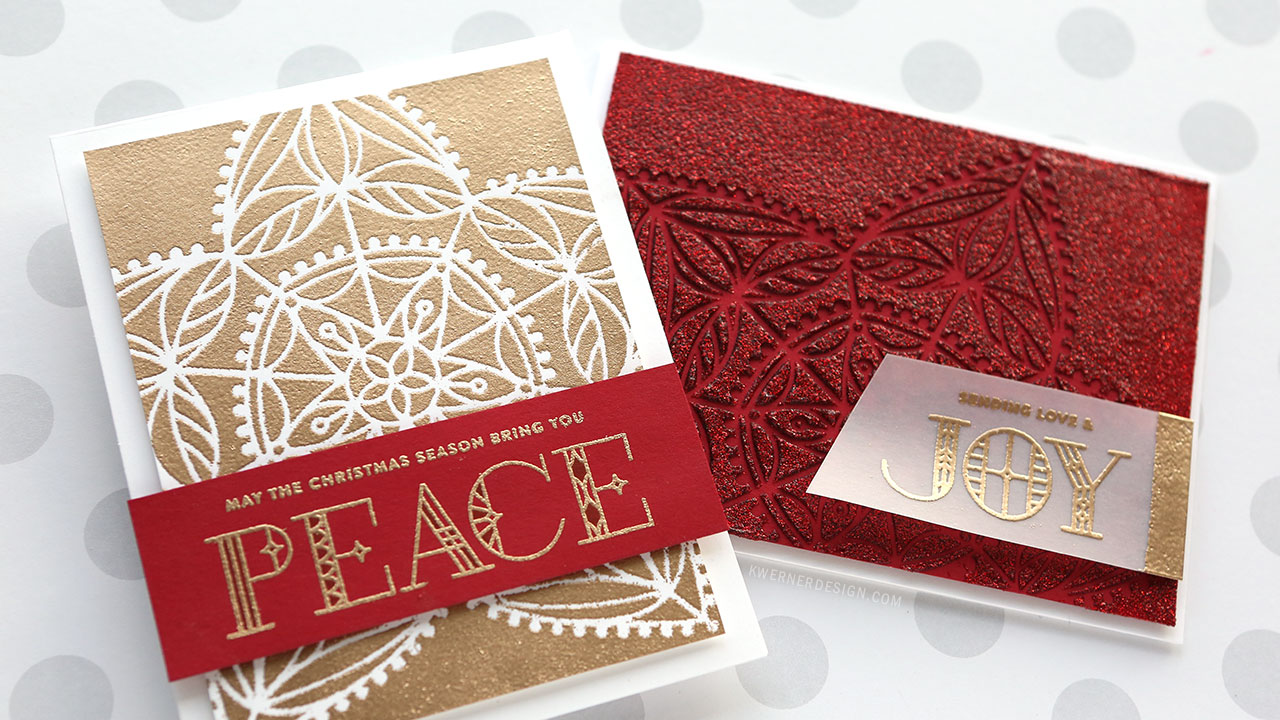 2 Types of Stencil Embossing – NEW Holiday Release from Simon Says Stamp