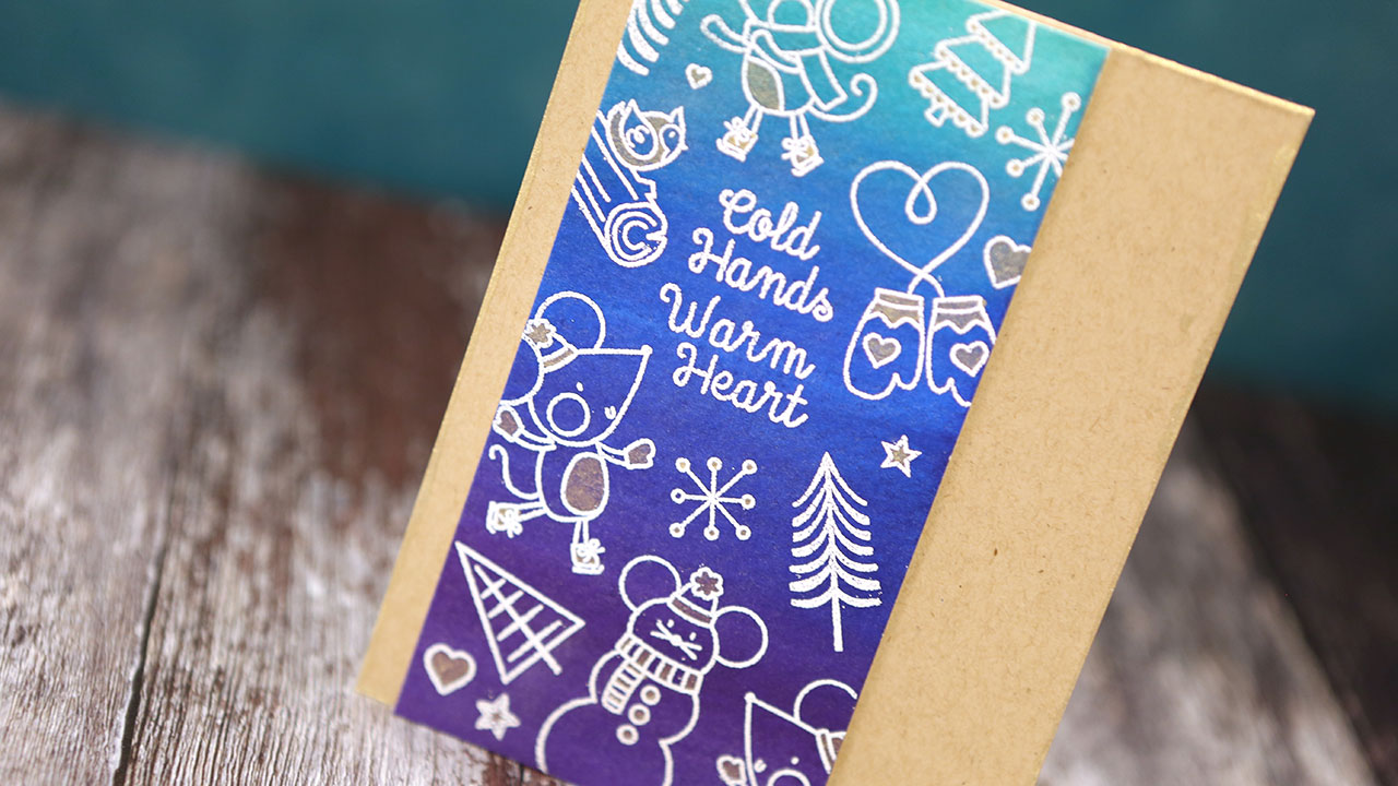 Using Outline Stamps Without Intricate Coloring – Waffle Flower Blog Hop + GIVEAWAY!