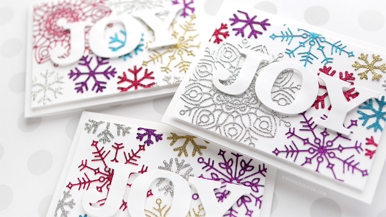 Holiday Card Series 2017 – Day 17 – Glitter Snowflake Diecuts