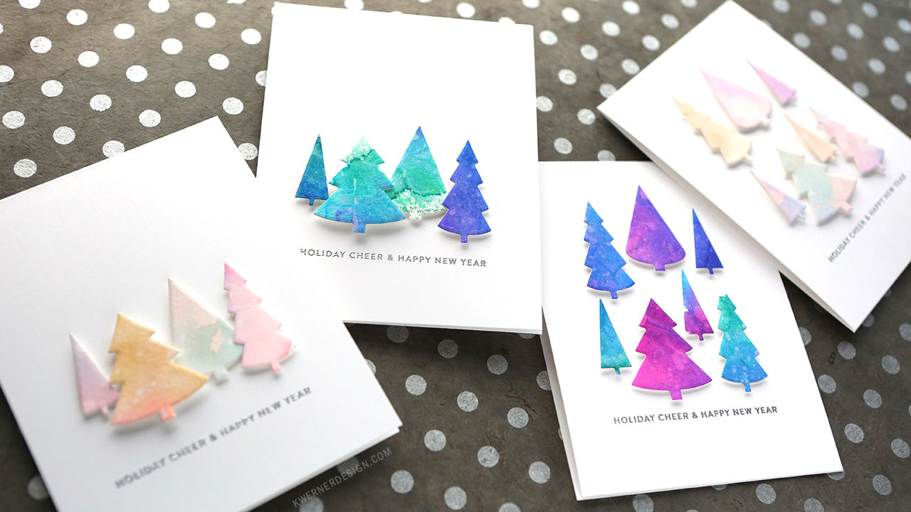 Holiday Card Series 2017 – Day 8 – Watercolor Backgrounds with Markers