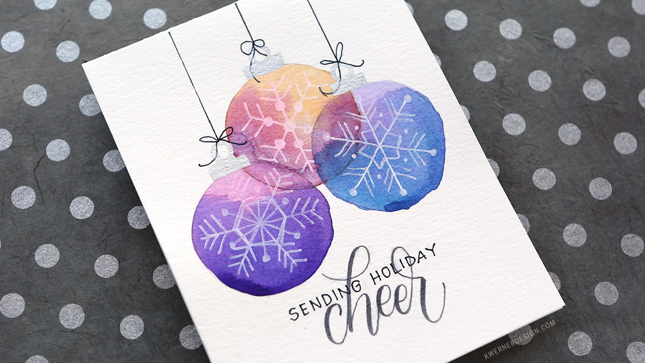 Holiday Card Series 2017 – Day 9 – Easy DIY Card with Minimal Supplies