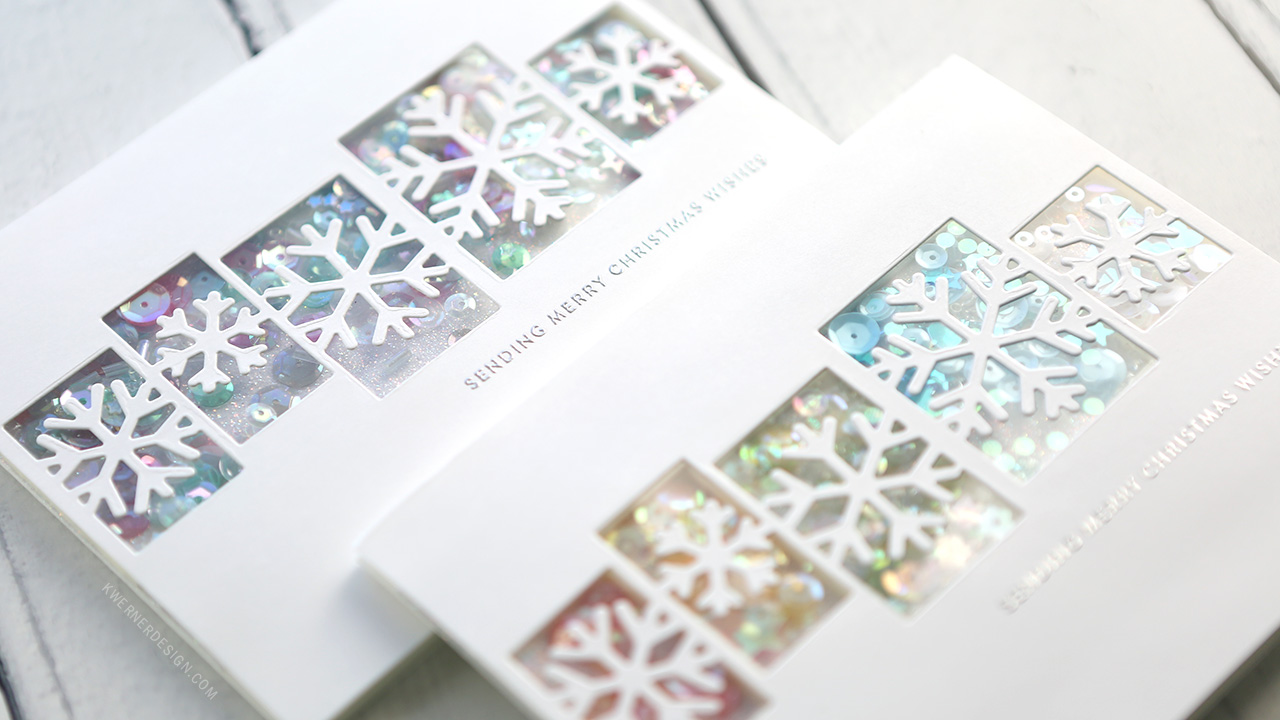 Two Glittery Shaker Cards