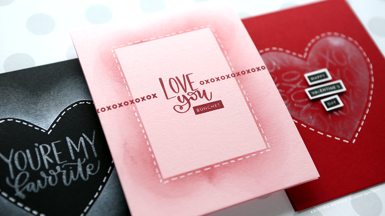 Easy One-Layer Blended Cards – Simon Says Stamp January 2018 Card Kit