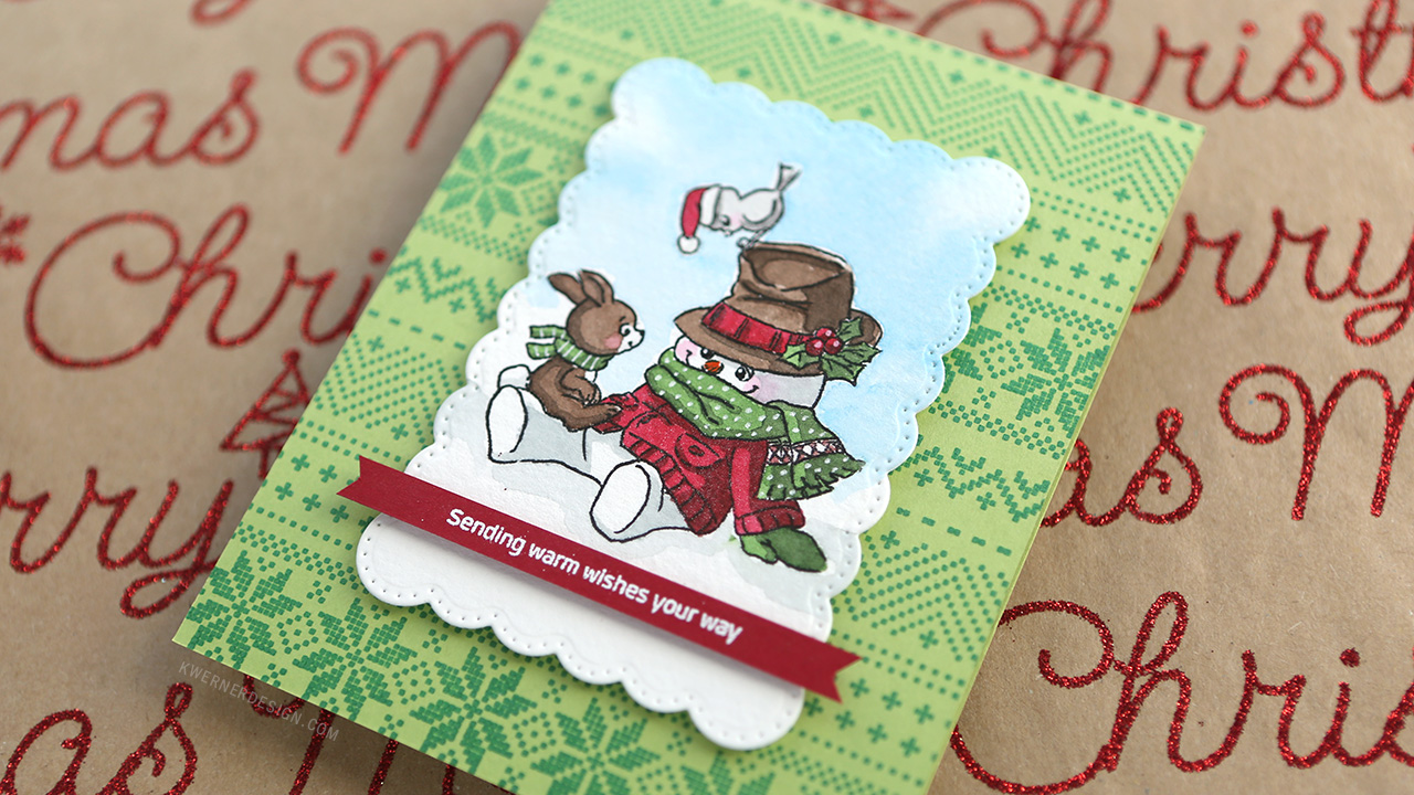 Holiday Card Series 2017 – Day 19 – Easy Watercolor Coloring