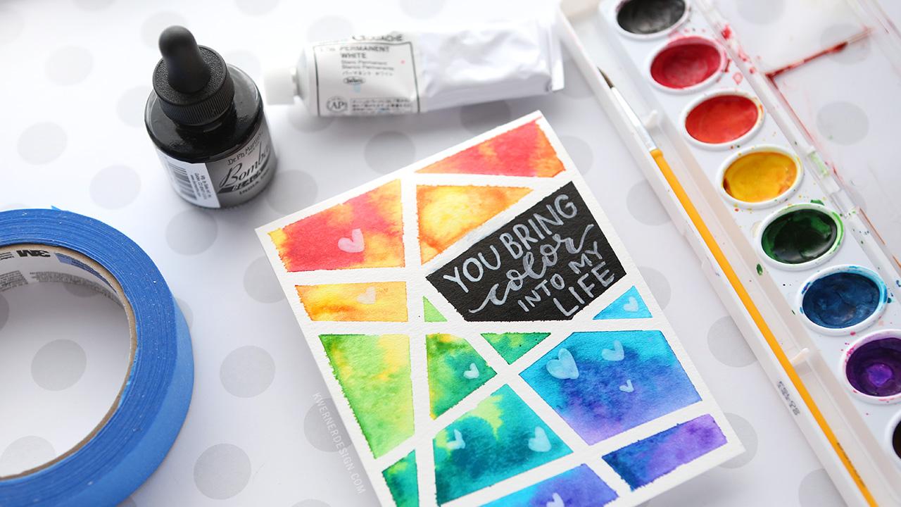 EASY DIY Taped Watercolor – Minimal Supplies Needed