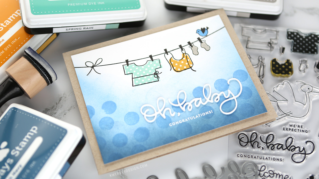 Stamped Baby Card – NEW Simon Release!