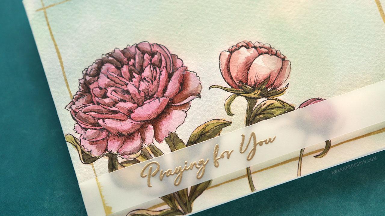 Floral Watercolor Card (SugarPea Designs 4th Birthday Blog Hop)