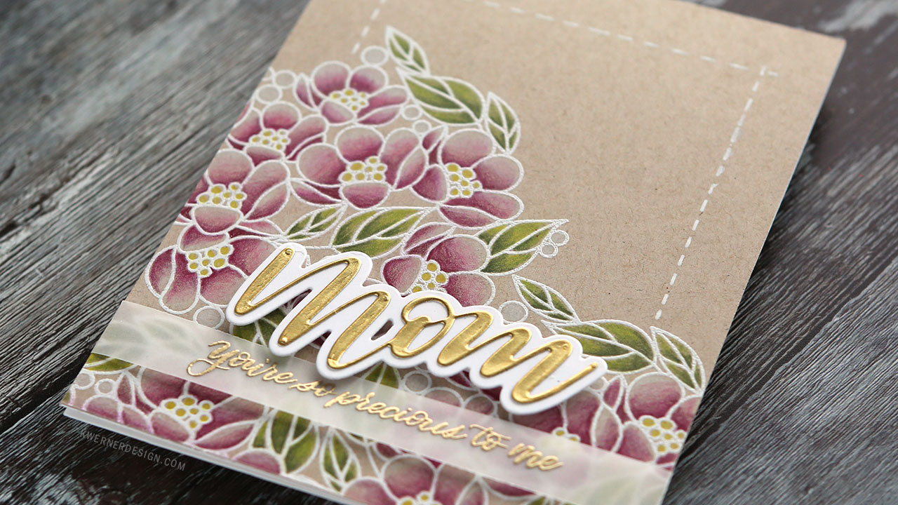 Mother's Day Card with Polychromos Colored Pencils (Simon New Release Blog Hop)