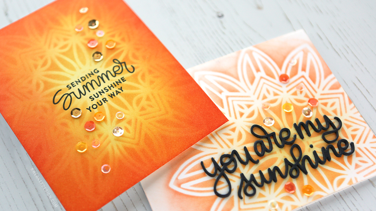 Sunshine Stenciling (New release from Simon Says Stamp)