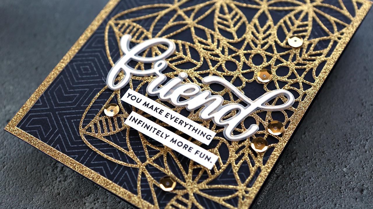 Intricate Die Cutting with Glitter Paper
