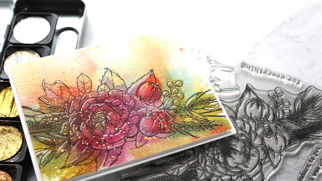 Loose Watercolor Underpainting + Stamping