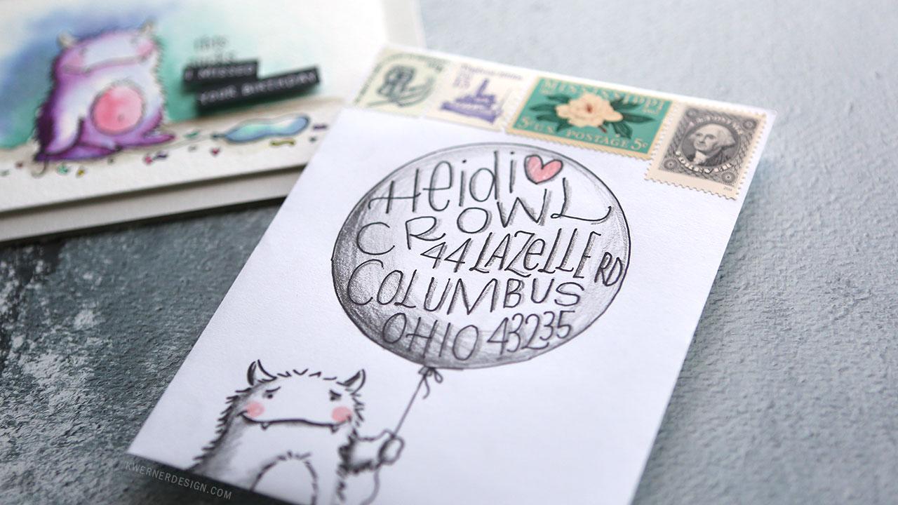 Mail Art – Birthday Balloon & Monster Envelope