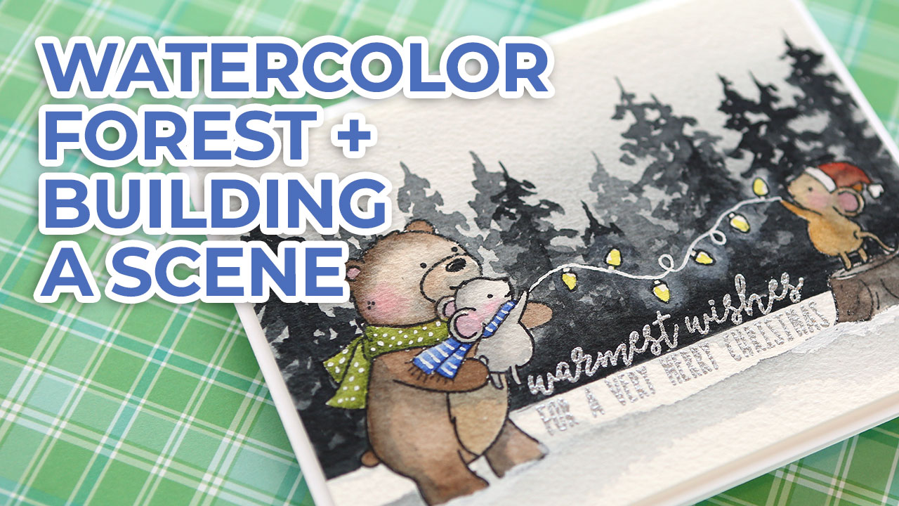 Watercolor Winter Scene – Neat & Tangled STAMPtember stamps