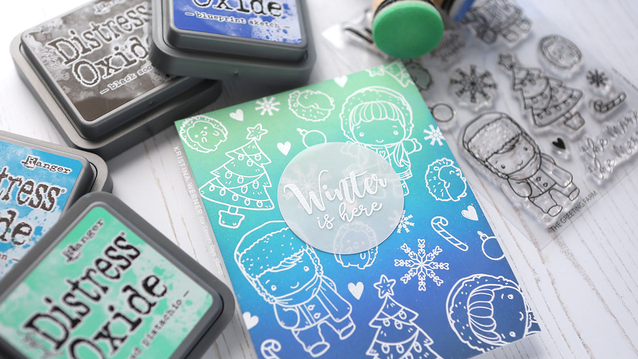 Easy Card Design for Outline Stamps — No need to color!