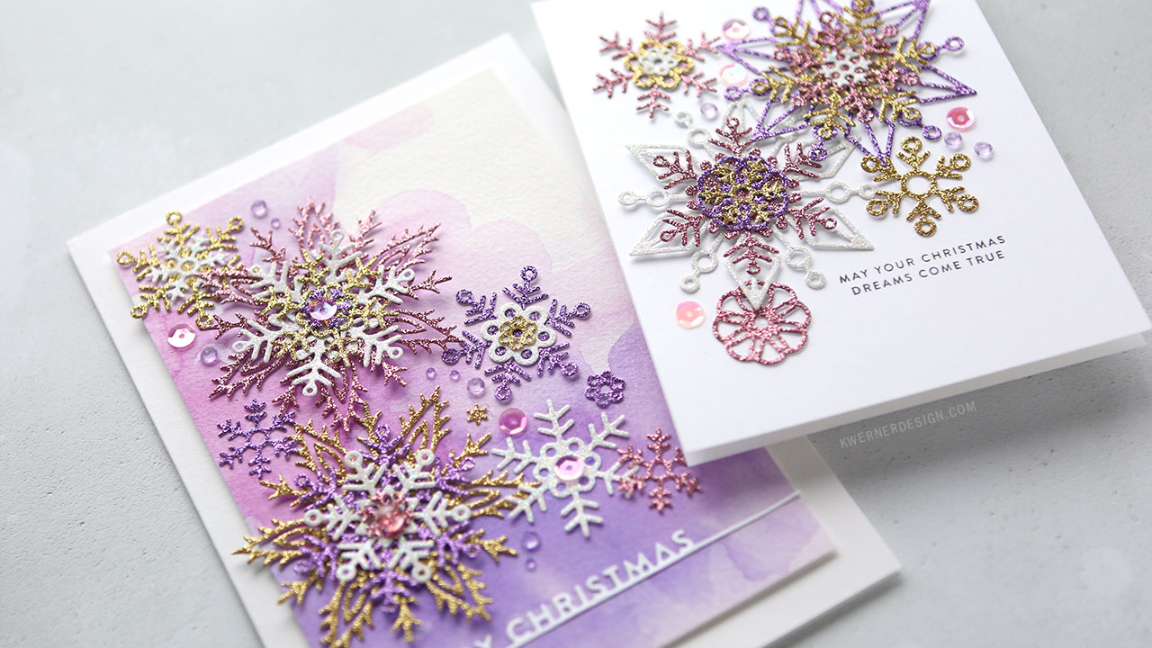 Holiday Card Series 2018 – Day 3 – Glitter Snowflake Cards