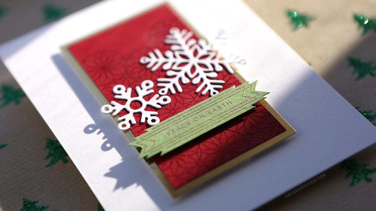 Holiday Card Series 2018 – Day 23 – Intricate Pattern Embossing