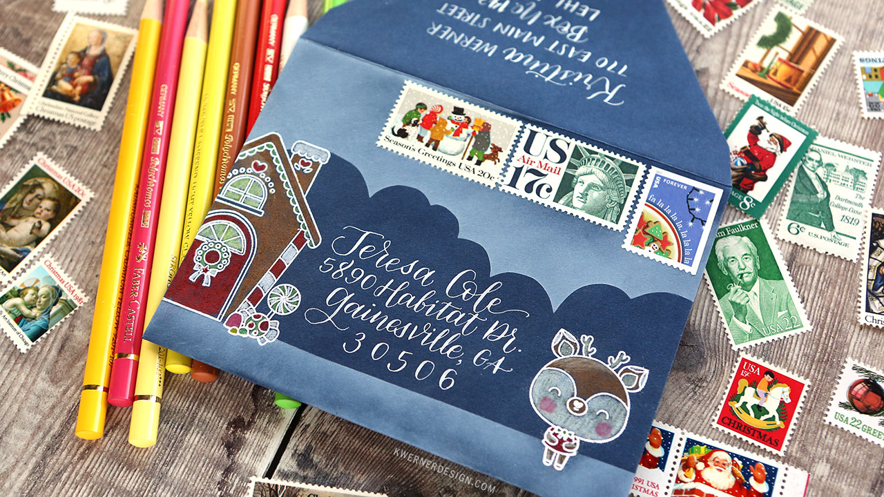 HOLIDAY MAIL ART – Scene building & calligraphy