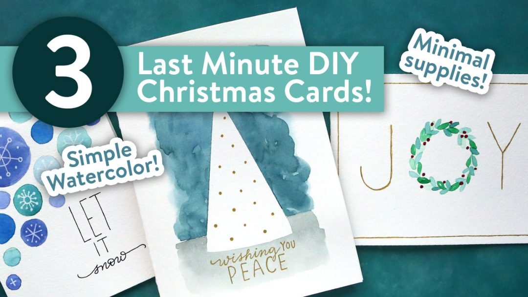 Easy Diy Christmas Cards Last Minute Card Ideas Kwernerdesign Blog