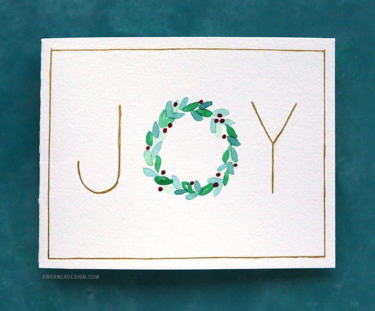 Easy Diy Christmas Cards Last Minute Card Ideas Kwernerdesign Blog