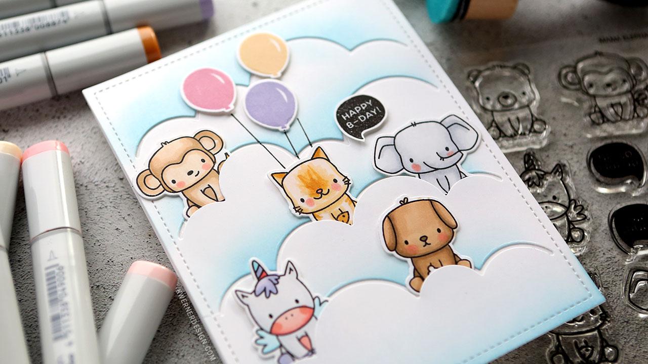 Mama Elephant Birthday Card (Stackable Cuties)