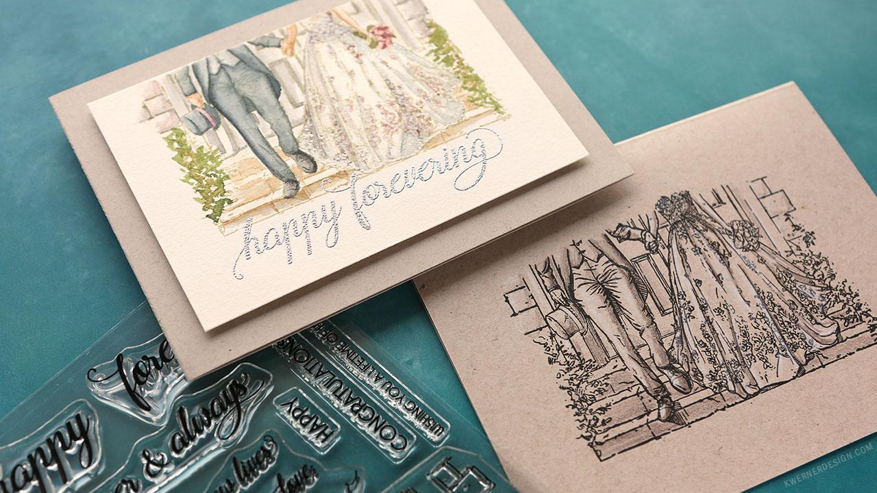 Wedding Cards – 1 Stamp Set, 2 Ways