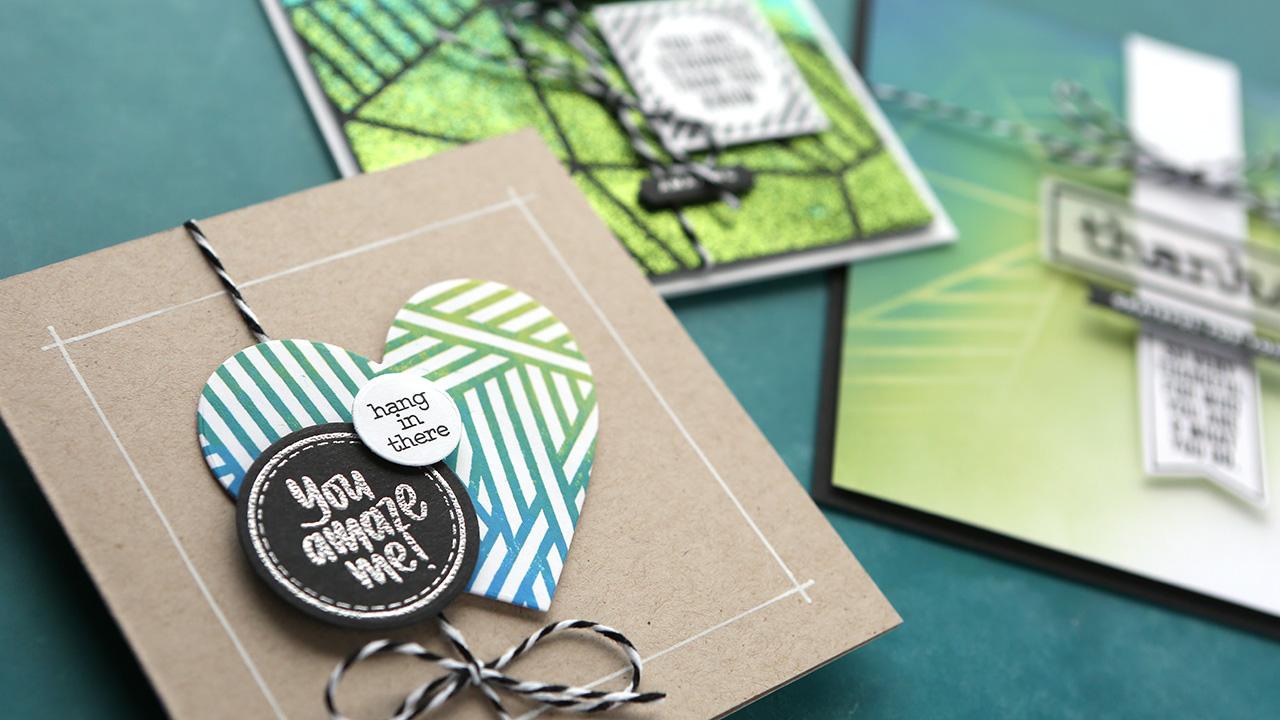 Card Greeting Groups (NEW Simon stamps, dies, & stencil)