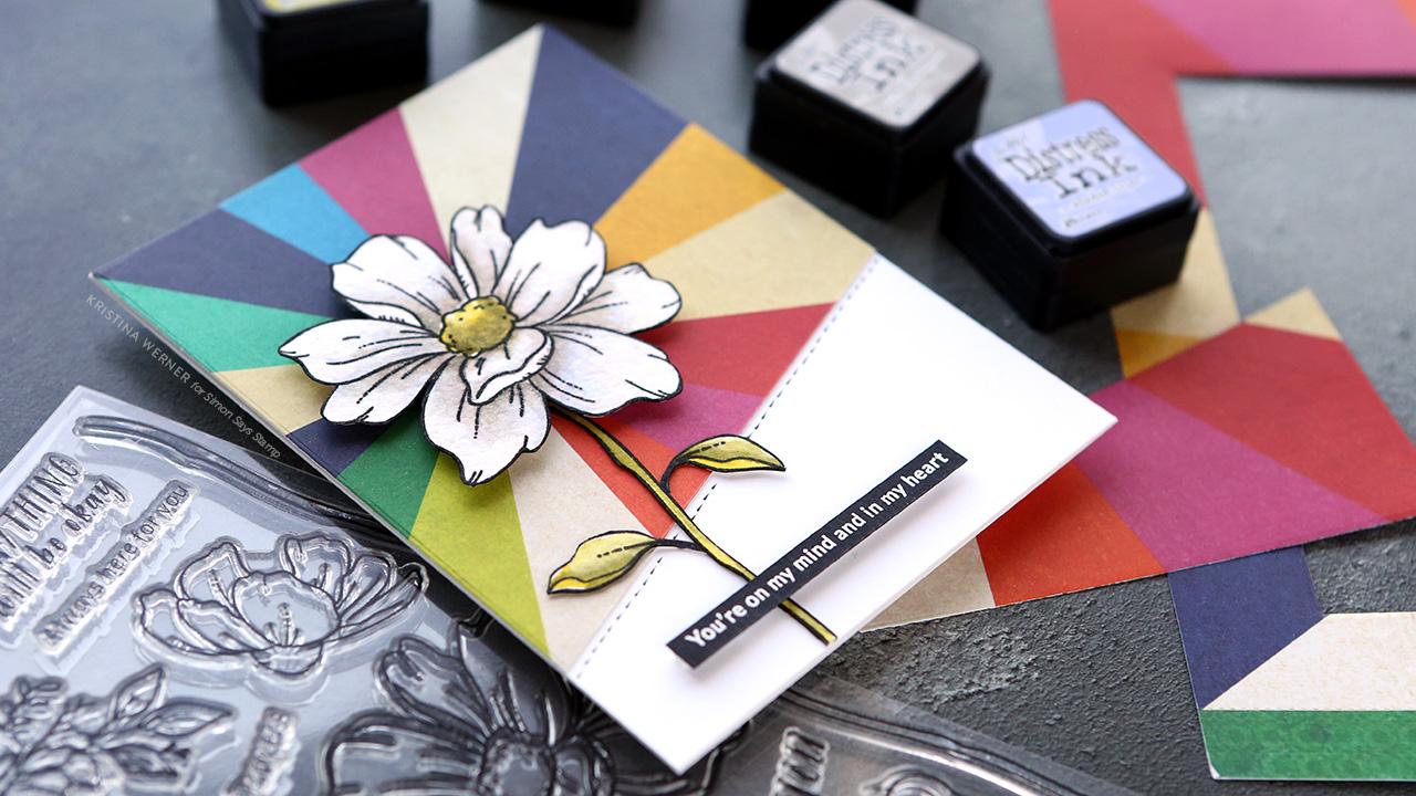White Flower Watercoloring – Simon September 2019 Card Kit