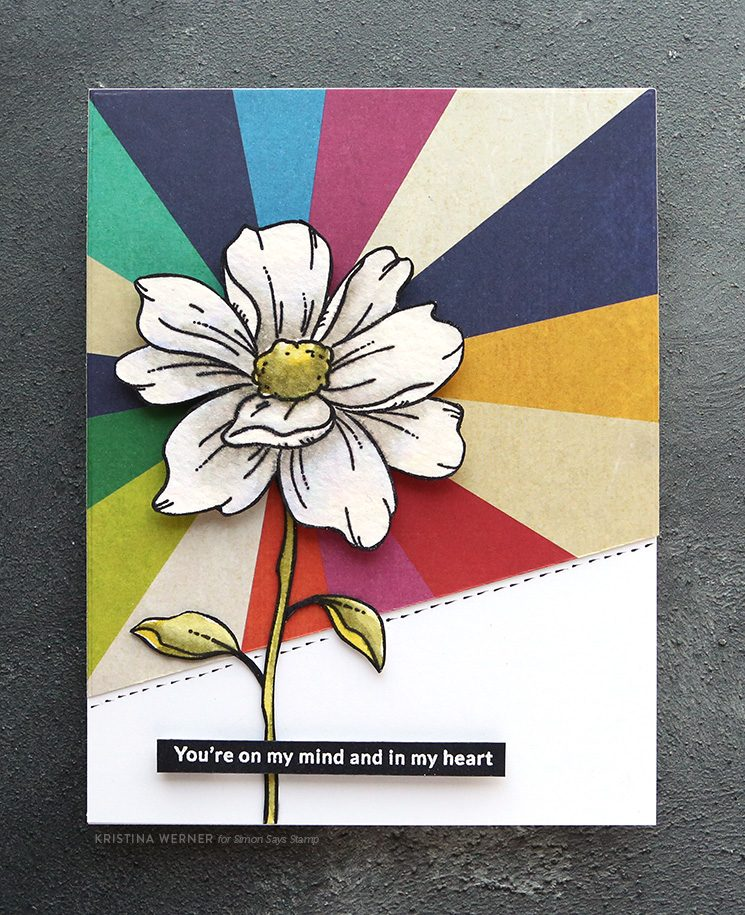 White Flower Watercoloring - Simon September 2019 Card Kit