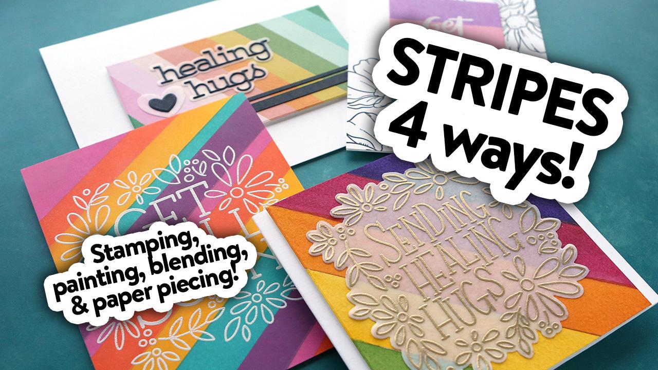 4 FUN WAYS to Use Stripes – Make a Card Monday #287
