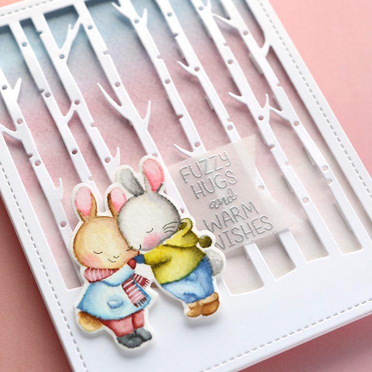 No-Line Watercoloring - Mama Elephant Holiday 2019 - Make a Card Monday #289