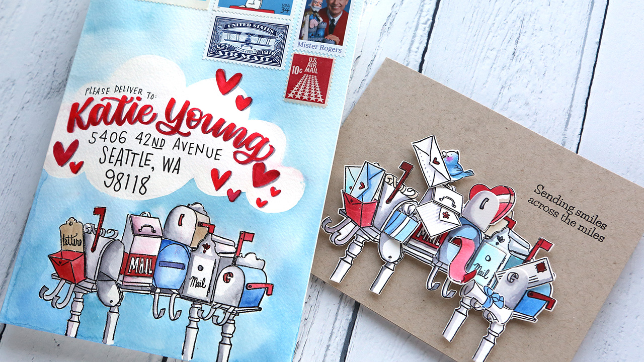 Card & Mail Art – Art Impressions Happy Mailbox Cubbies
