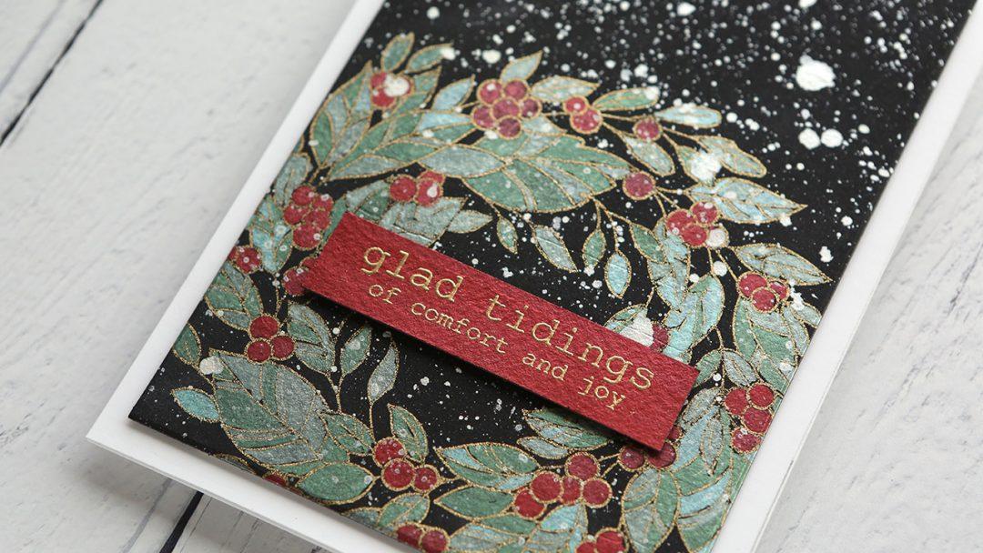 Holiday Card Series 2019 Day 3 Metallic Wreath Painting Kwernerdesign Blog