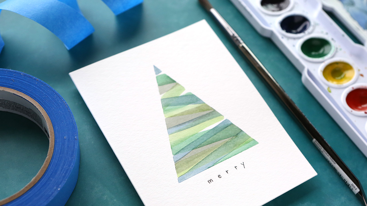 Holiday Card Series 2019 – Day 16 – Easy DIY Tree