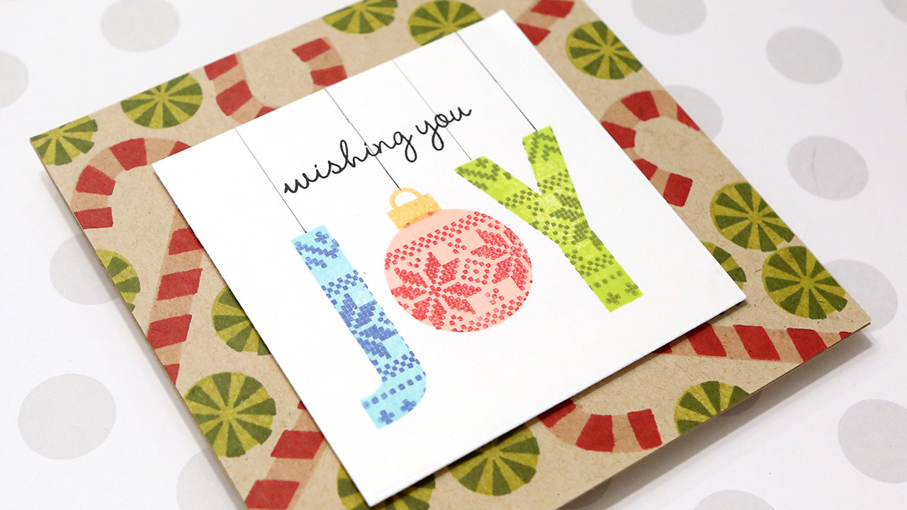 Holiday Card Series 2019 – Day 5 – Stamp Kissing Technique