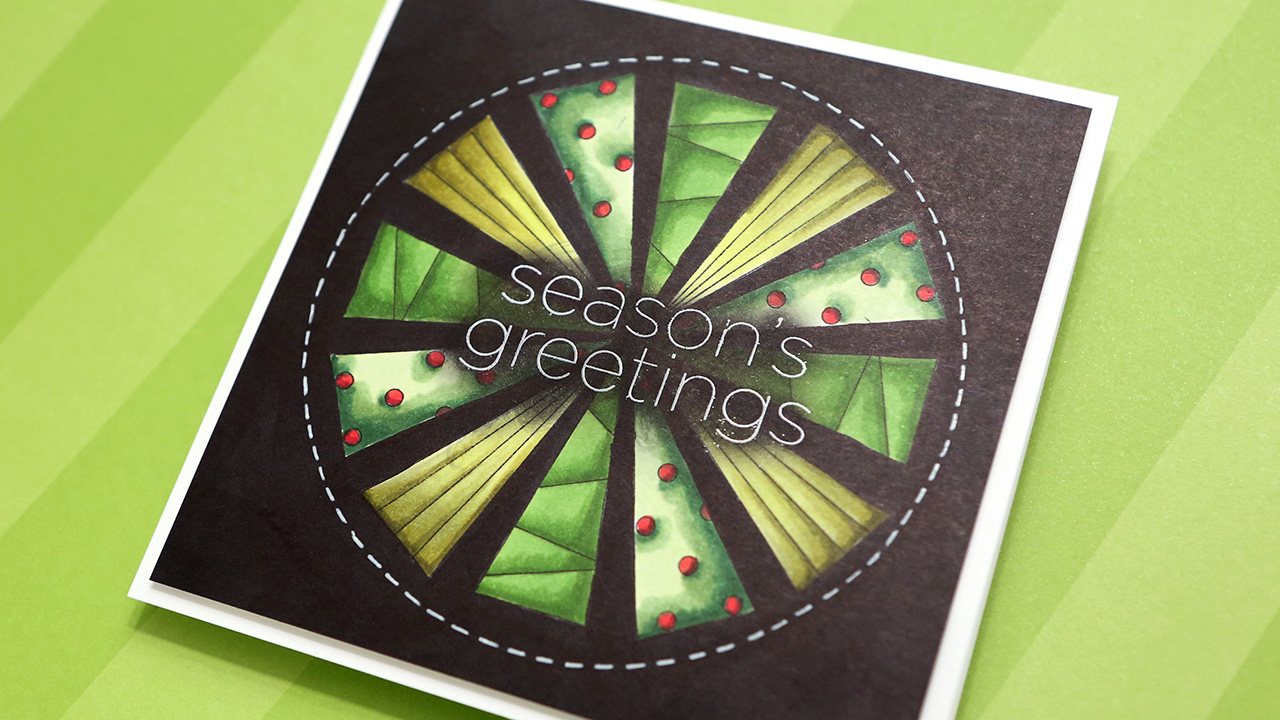 Holiday Card Series 2019 – Day 7 – Geometric Trees Design