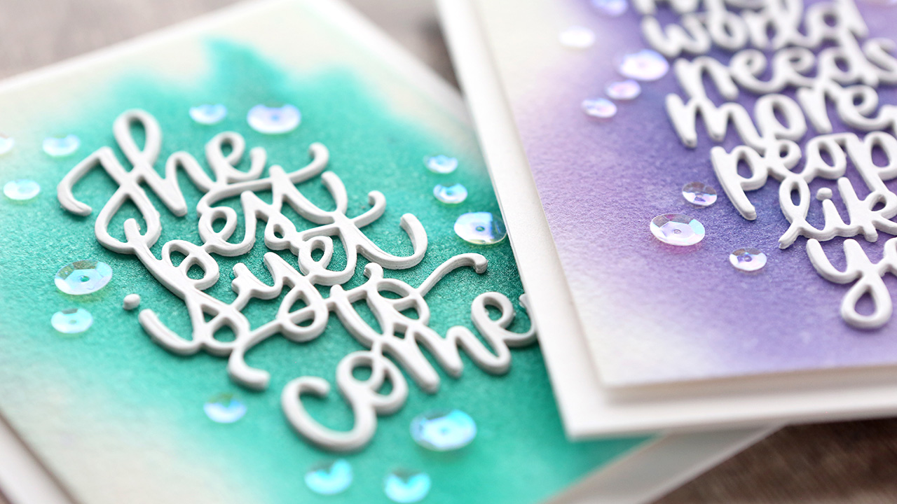 Watercolor Backgrounds with Nuvo Shimmer Powder
