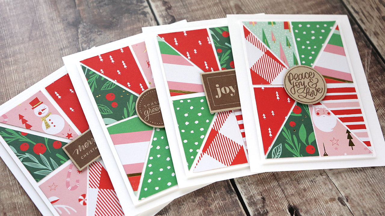 Holiday Card Series 2019 – Day 23 – Quilt Block with Patterned Paper