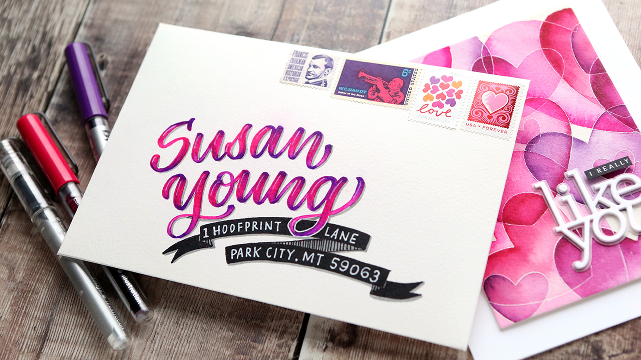 Mail Art with Karin Brushmarker PRO Markers (Brush Lettering)