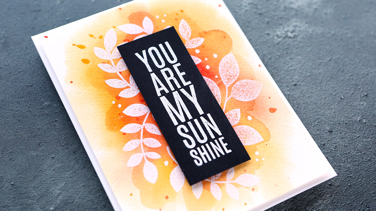 Capsule Card 4 – Simple Watercoloring & Heat Embossing