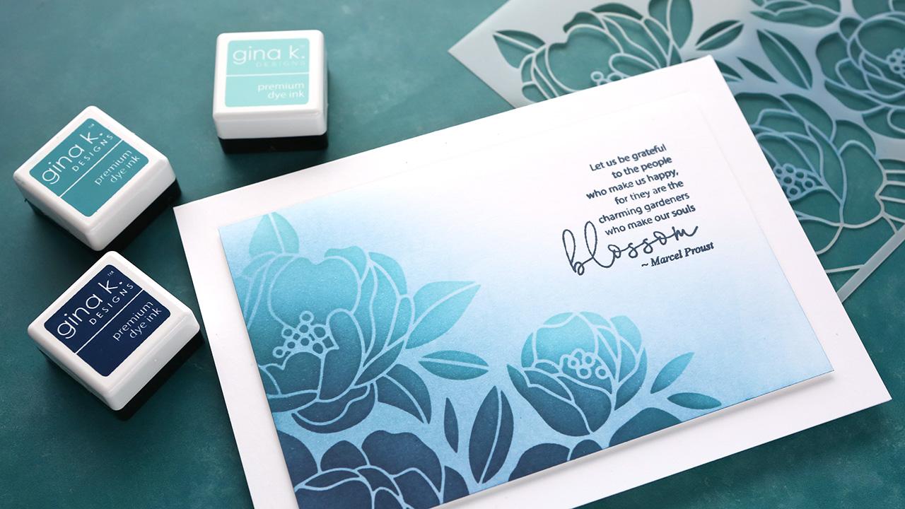 Capsule Card 7 – Stencil Ink Blending