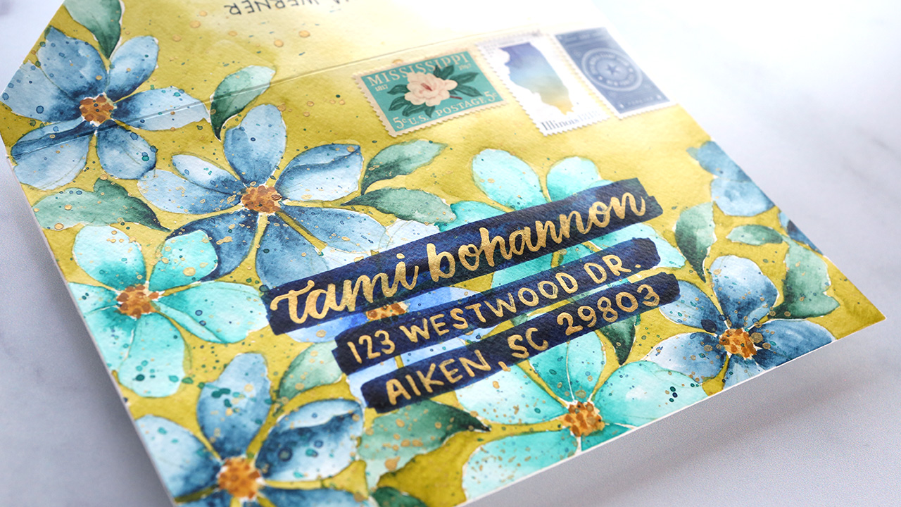 No-Line Watercolor Floral Mail Art + GIVEAWAYS & Altenew Anniversary