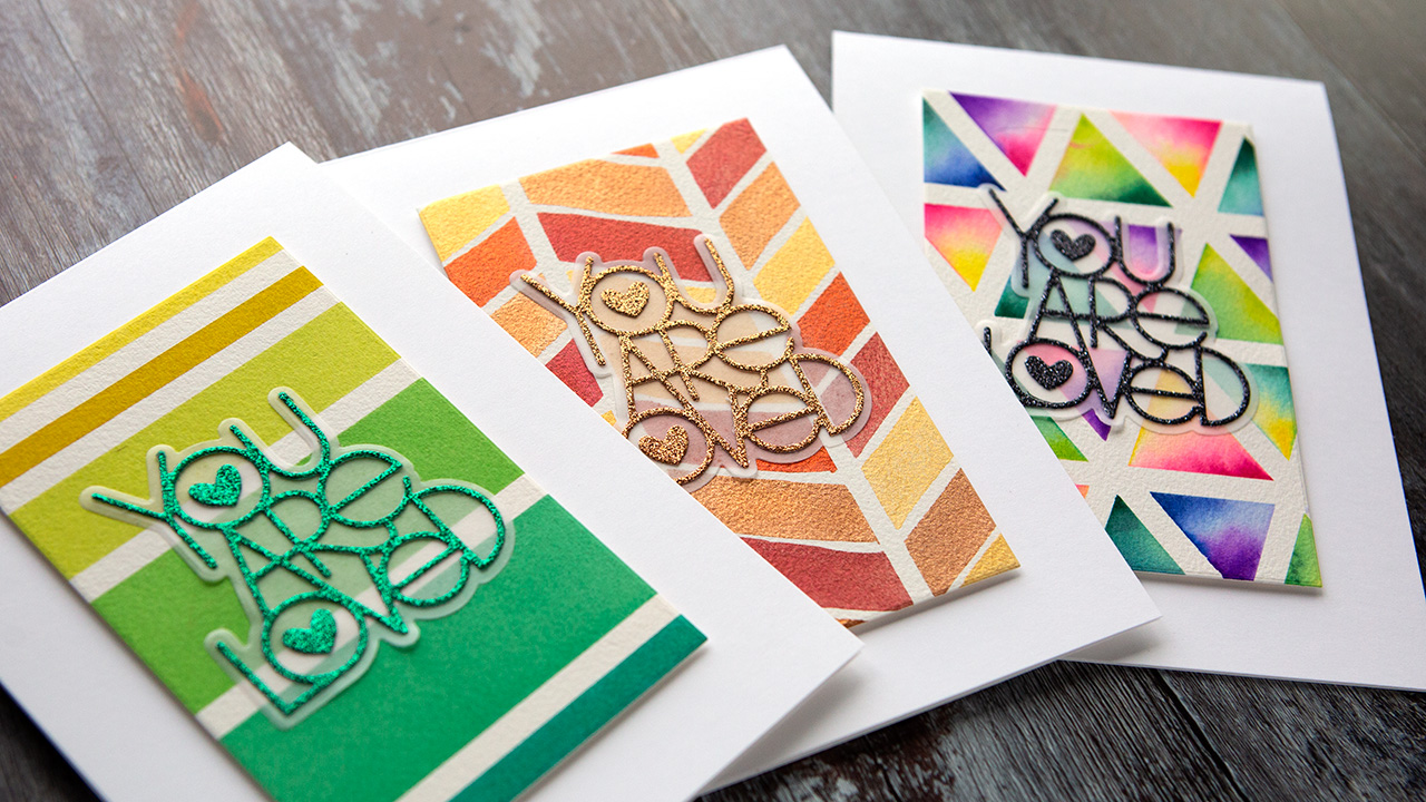 SO EASY! 3 Masking Tape Patterns for Watercolor!