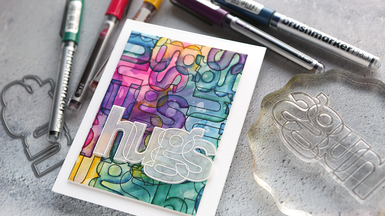 Layered Watercolor with Karin Markers (NEW Stamps from Simon!)