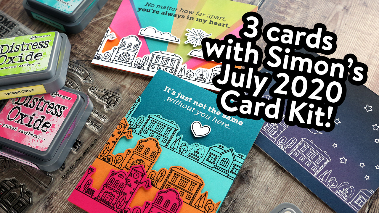 No Coloring Required! 3 Cards using Simon's July 2020 Card Kit!