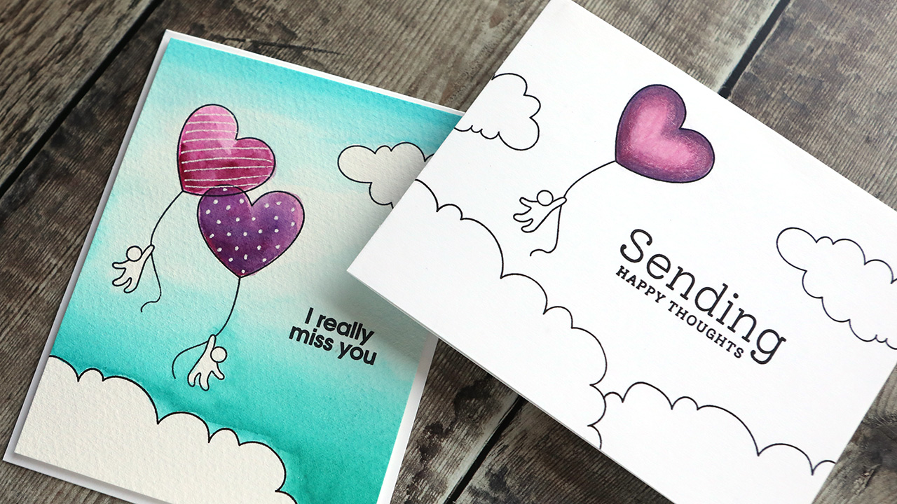 How to Create Stamped Scene Cards with the September 2020 Card Kit