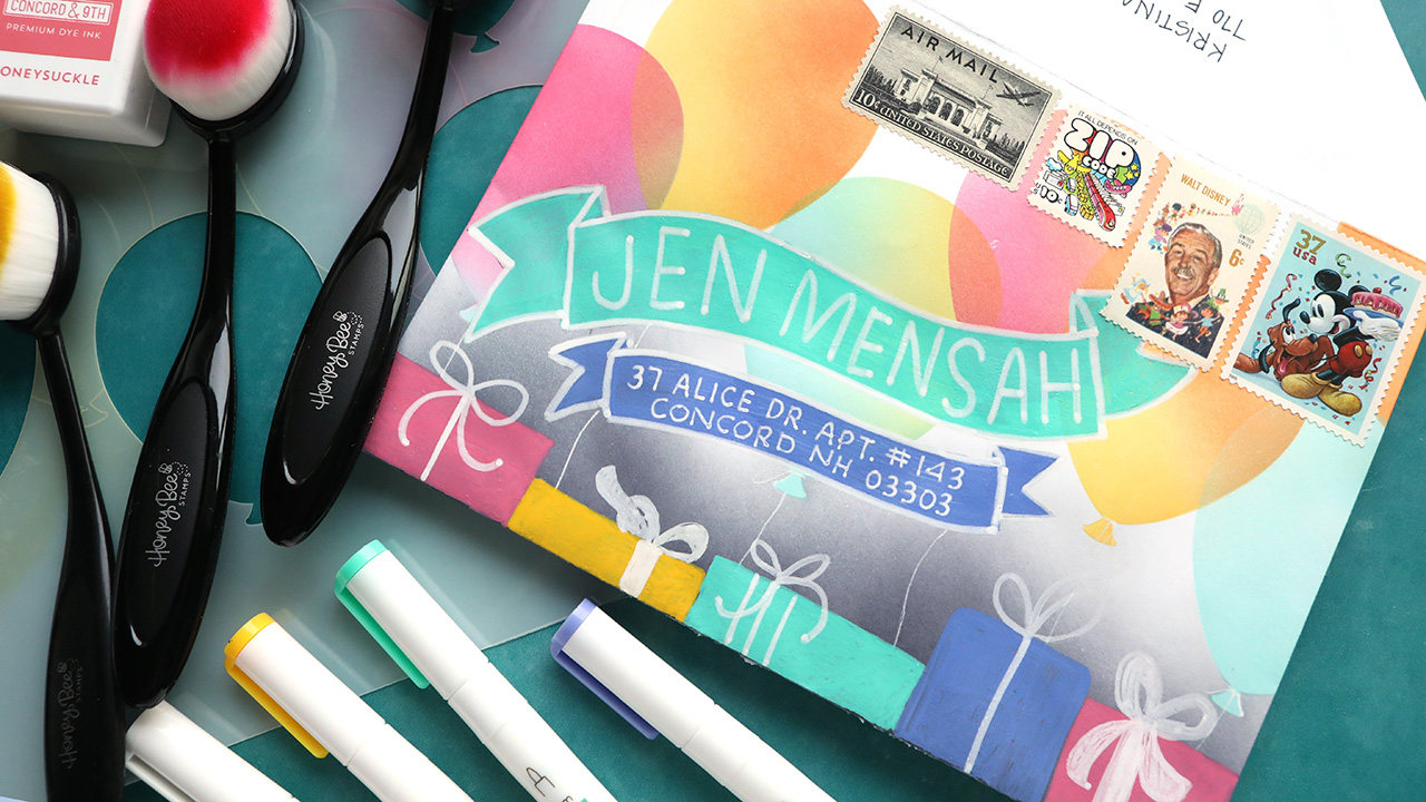 LIVE REPLAY – Colorful Birthday Balloon Envelope (with lettering!)