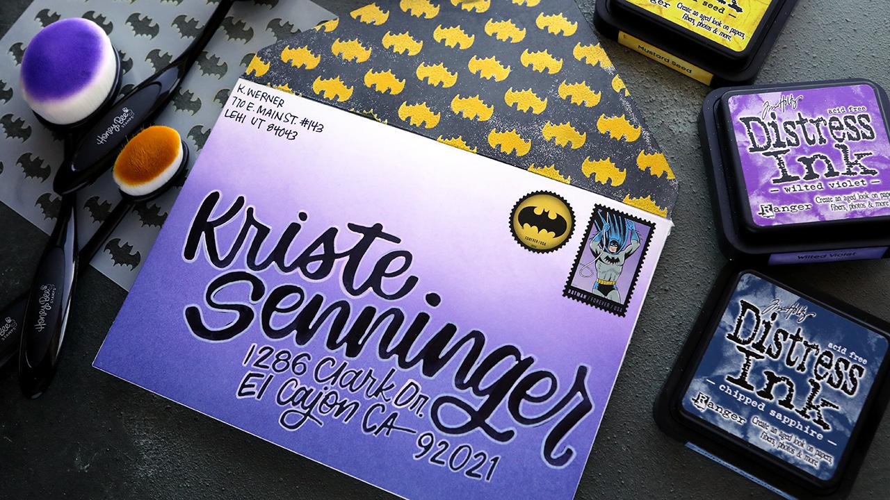 POW! Easy Batman Mail Art Envelope