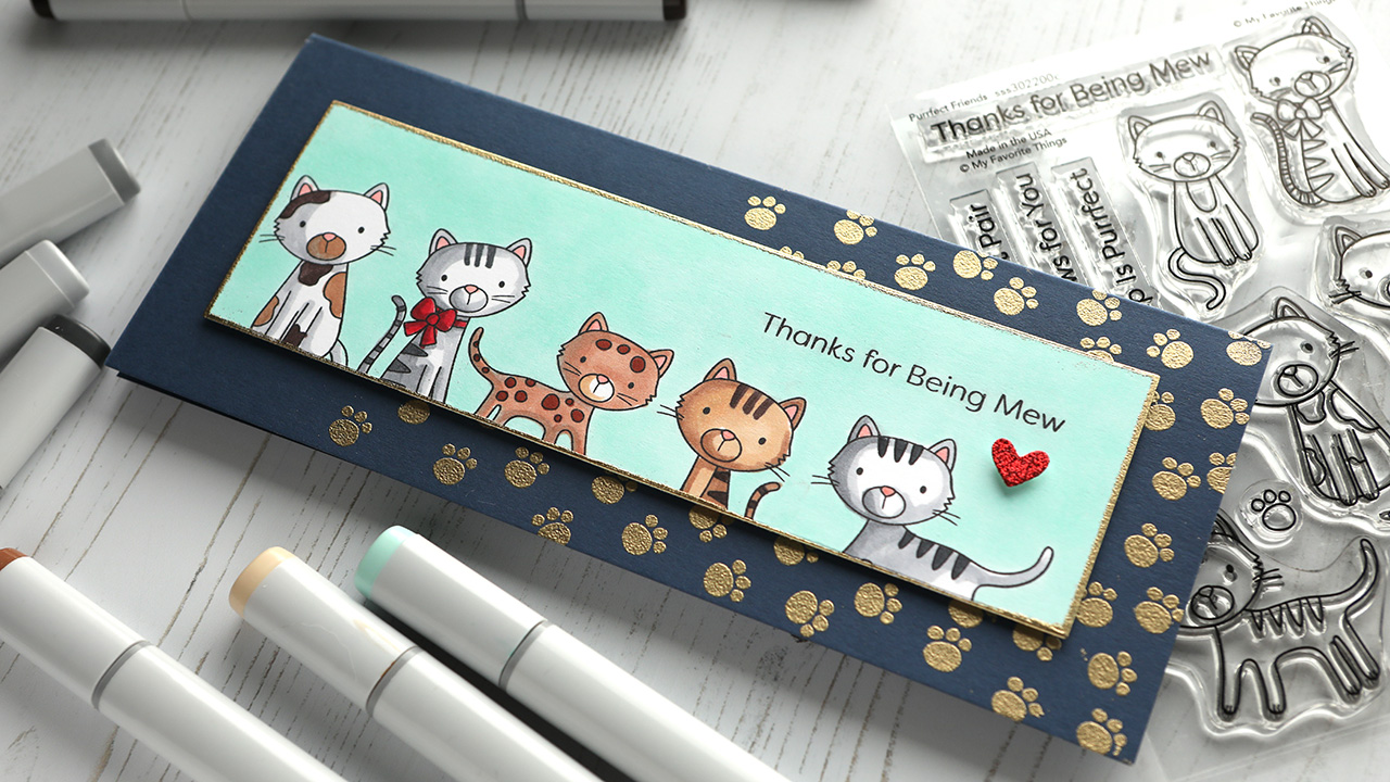 ALL THE KITTIES! My Favorite Things STAMPtember® collab stamps!