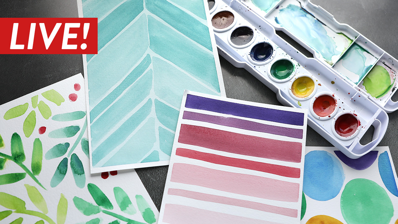 LIVE REPLAY – Easy Freehand Watercolor Patterns