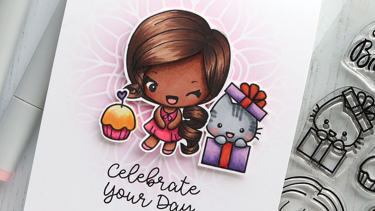 Coloring Hair with Copic Markers – The Greeting Farm STAMPtember stamp set